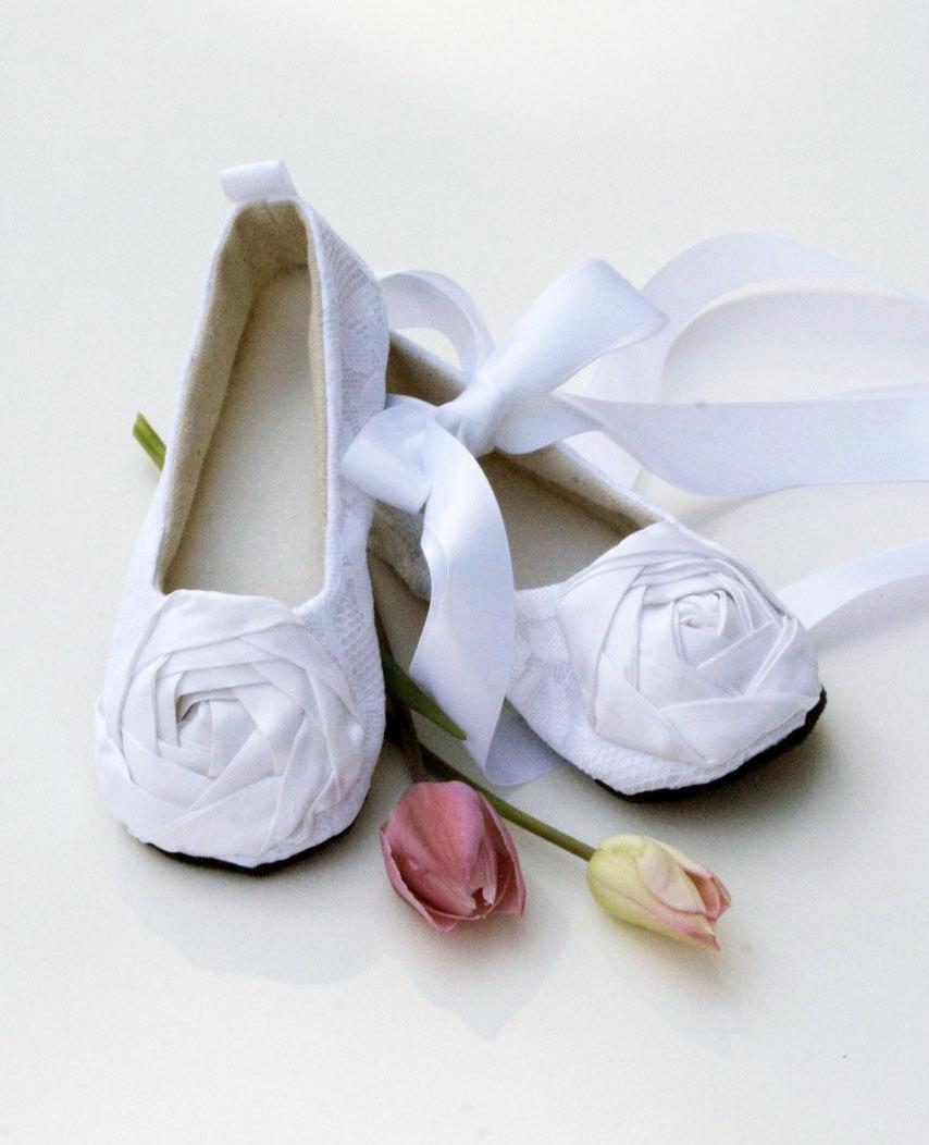 White Toddler Flower Shoes Also Silver Black Ivory Easter Baby Ballet Slippers Lace Wedding Shoe Little Souls