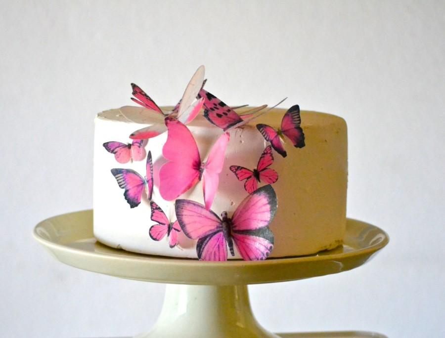 Wedding Cake Topper Edible Butterflies Assorted Set Of 15