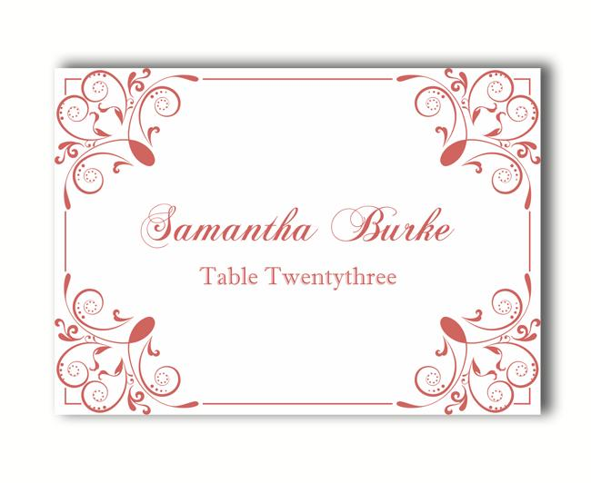 Place Cards Wedding Place Card Template Diy Editable Printable