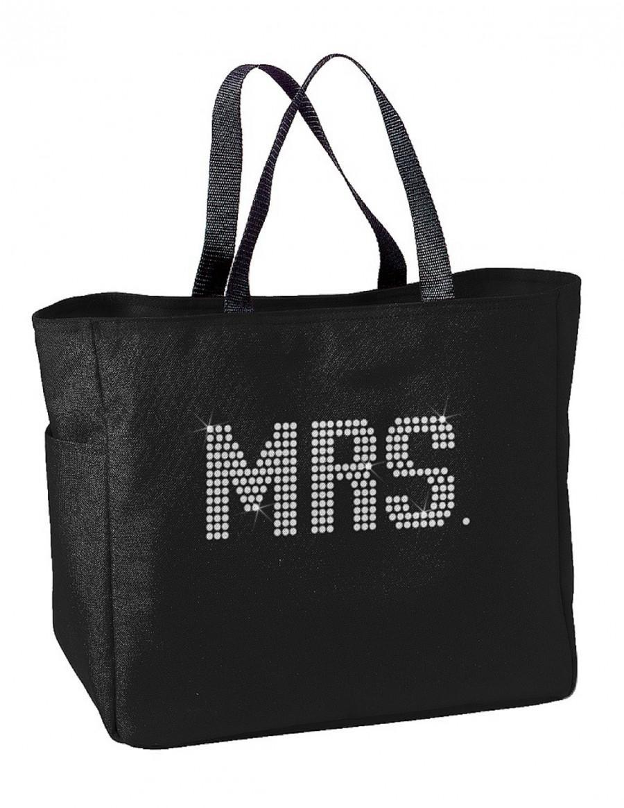 Wedding - Brilliant Rhinestone Mrs Tote Bag