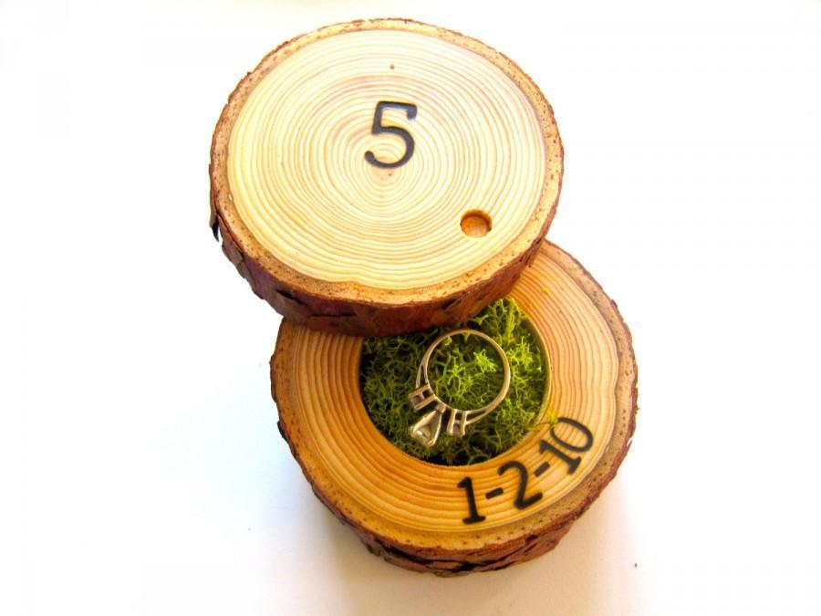 Свадьба - 5th Anniversary Gift, Wood Anniversary Ring Box