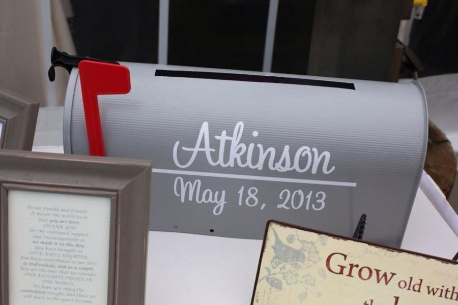 Mariage - Wedding Mailbox Decal - Last Name with Establish Date for both sides