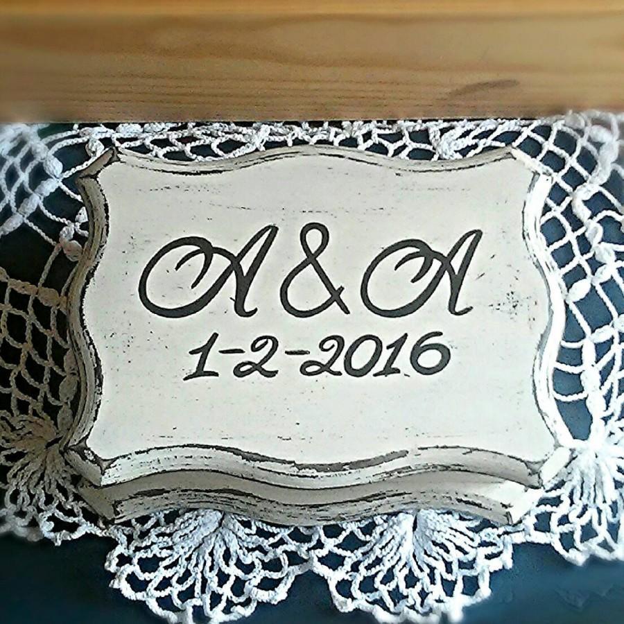 Mariage - Wedding ring box personalized I do,Personalized Ring Box, Ring Bearer Box, Rustic Wedding, Rustic Ring Box, Rustic Wood Box, Custom ring box