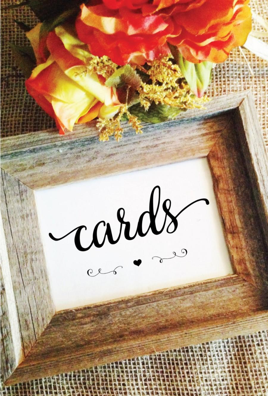 Свадьба - cards sign (Lovely) heart (Frame NOT included)