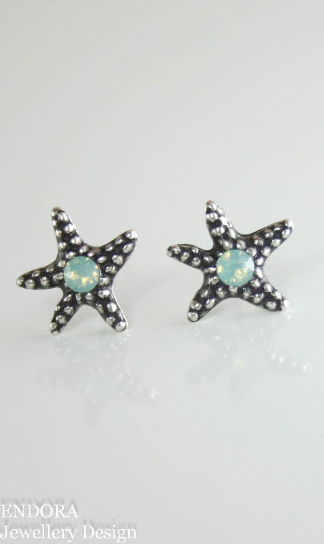 Starfish Earrings Stud Star Fish Beach Wedding Small Jewelry Seed Pearl