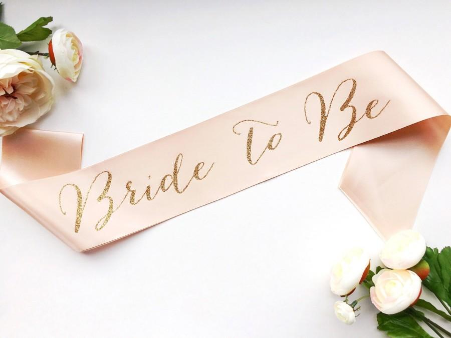 bride to be sash bachelorette sash bridal shower bachelorette party accessory satin bride sash bride gift bride sash