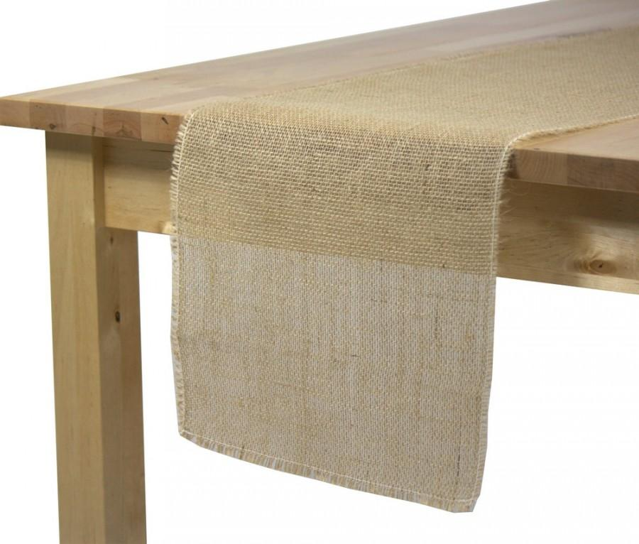 Burlap Table Runner, 12.5 X 120 Inch