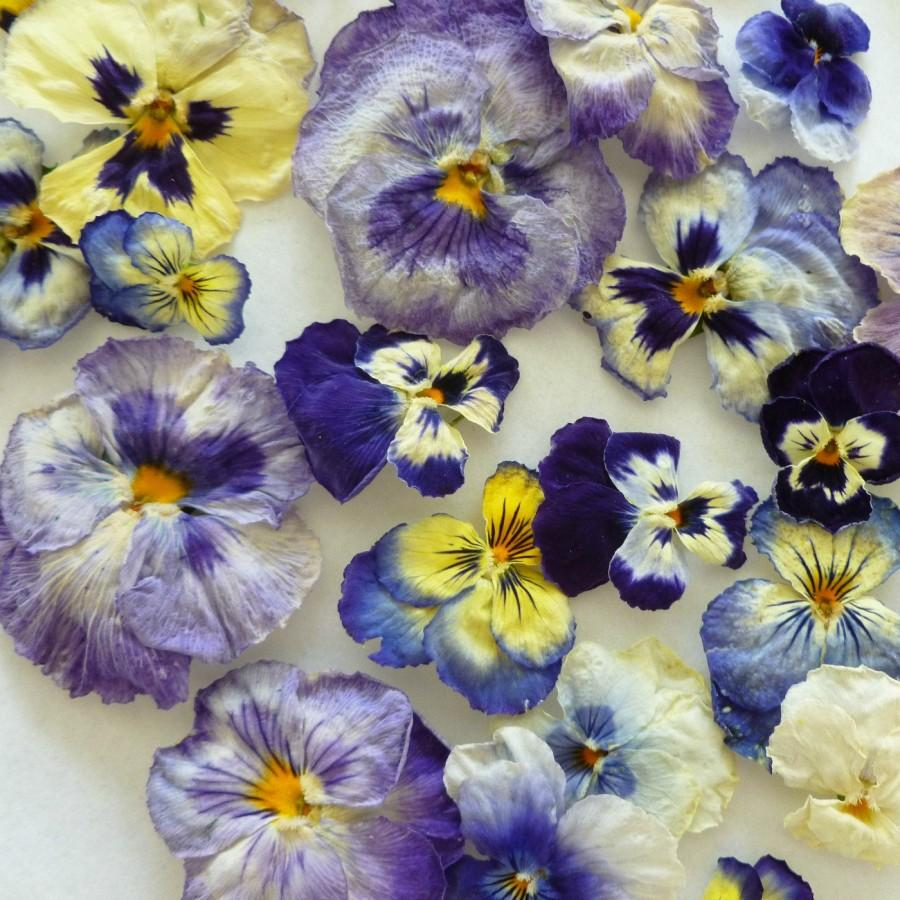 Mariage - Real Pansies, Dry Flowers, Purple, Blue, Flowers, Pansies, Cake Decorations, Table Decor, Craft supplies, Cake Topper, Lavender,Food Decor