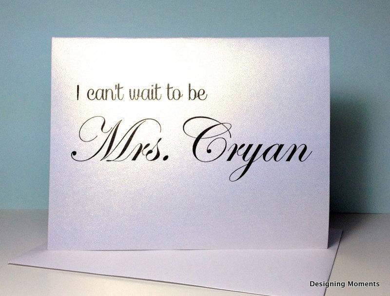 زفاف - Wedding Card for Groom, Groom Wedding Card, I Can't Wait to be Mrs. Bride and Groom Wedding Card, Wedding Day Card, I Do, Wedding