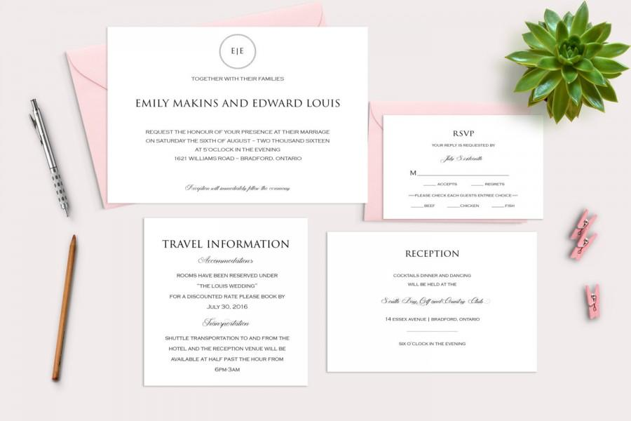 زفاف - Wedding Invitation Suite, Wedding Invitation, Wedding Invitation Template, Wedding Invitation Download, White Wedding Invitation