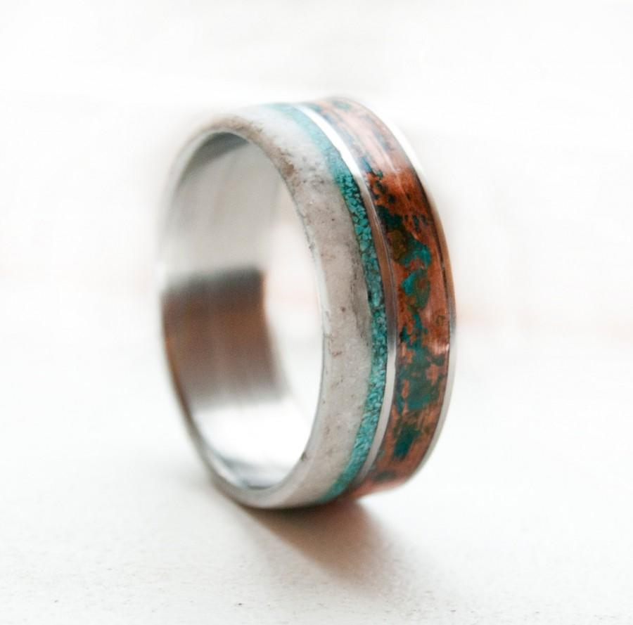 Mens Wedding Band Patina Copper Antler Turquoise Ring: Antler Wedding Ring Turquoise At Websimilar.org