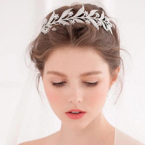 Bridal Tiara Lady Mary Swarovski Downton Abbey Wedding Rose Gold Yellow