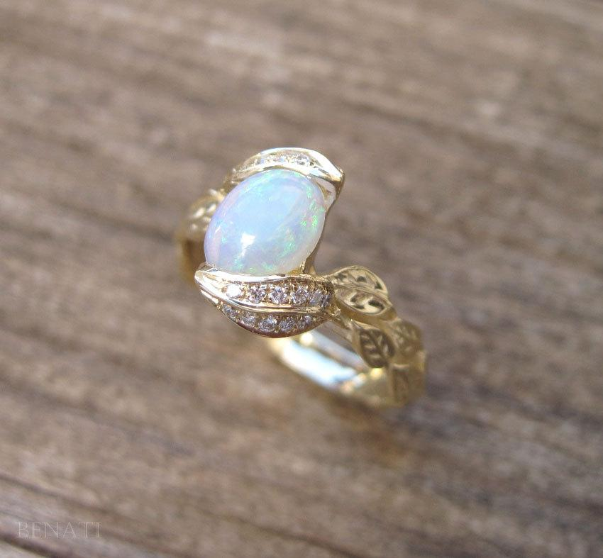 opal rose product copy rings engagement doron leaf twig and ring gold merav