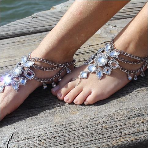 Свадьба - Boho gypsy barefoot sandals