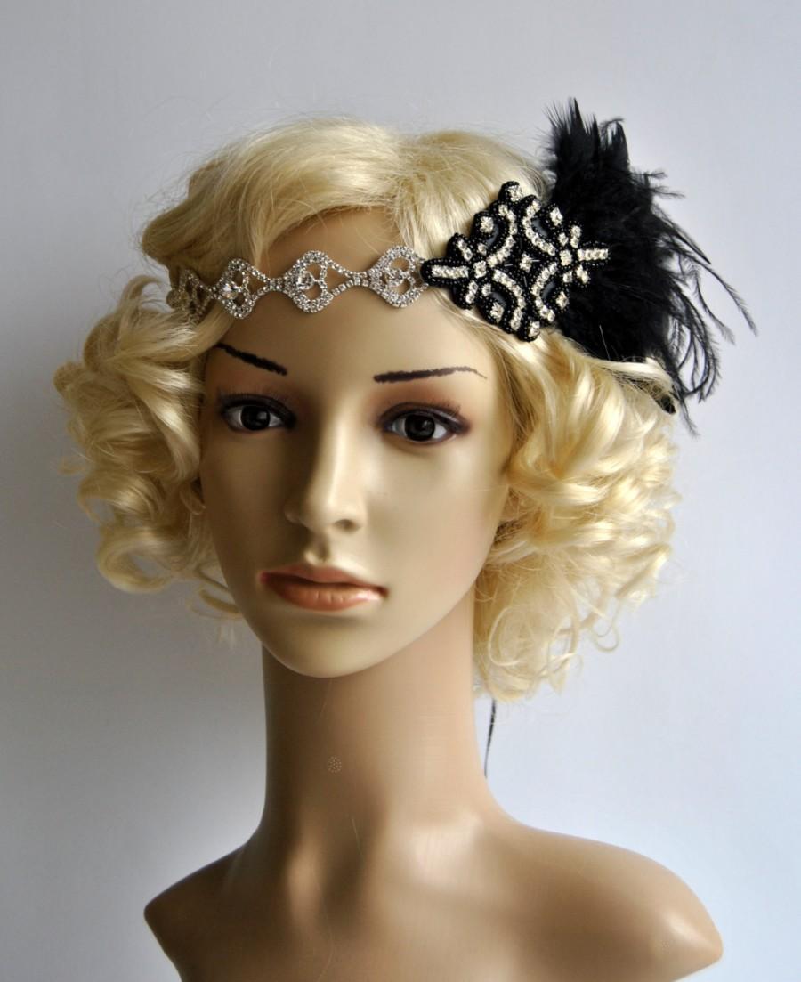 rhinestone 1920s headpiece flapper headband flapper