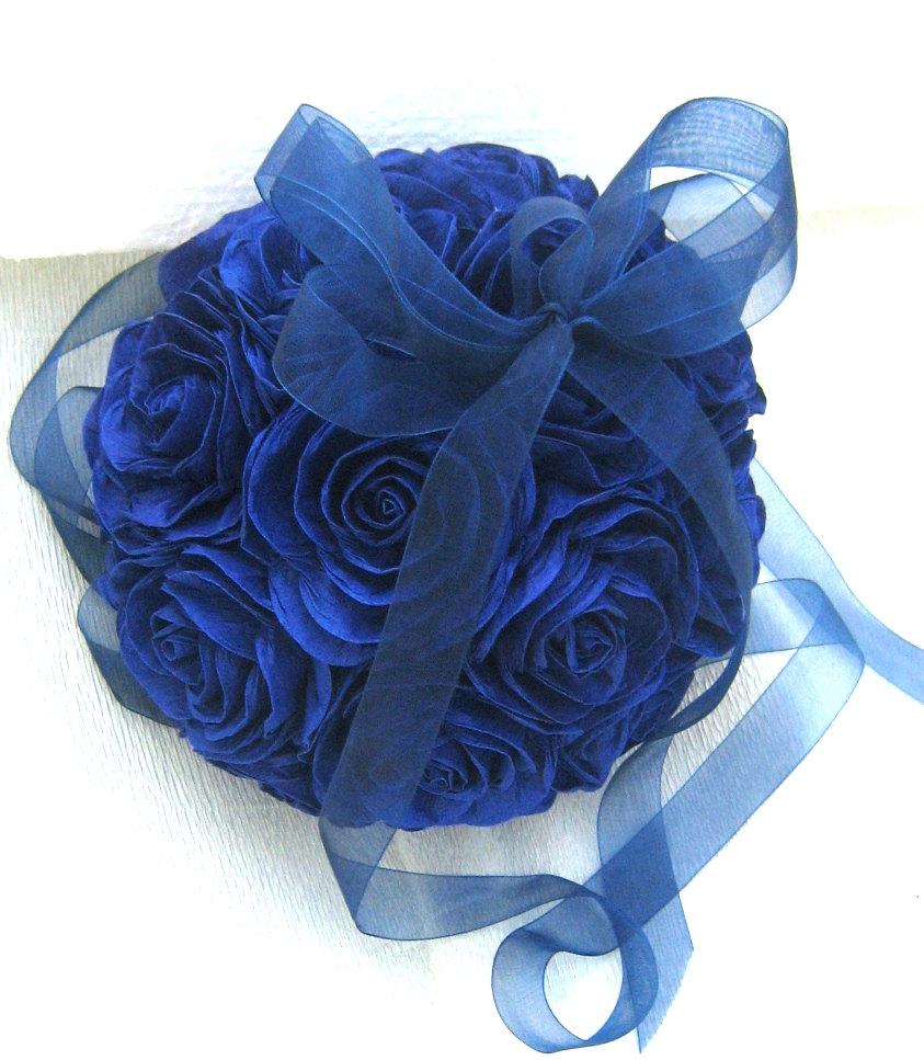 Royal Navy Blue Hanging Crepe Paper Flower Balls Boy Baby Shower