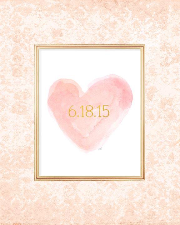 Свадьба - Blush Wedding Decor, Wedding Date, Special Date, Blush Bridal Shower Gift, Wedding Date Print, Blushing Bride, Blush Wedding Gift