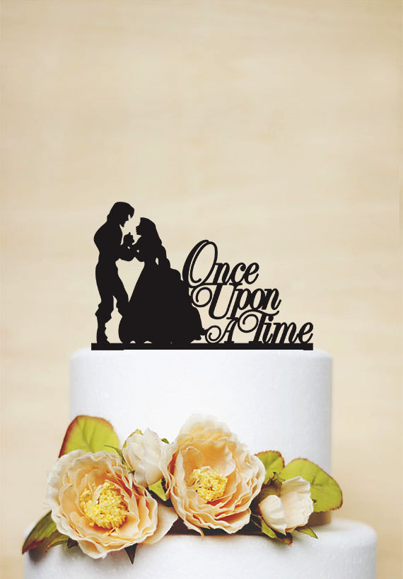 Once Upon A Time Wedding Cake Topper,Rapunzel Cake Topper,Romantic ...