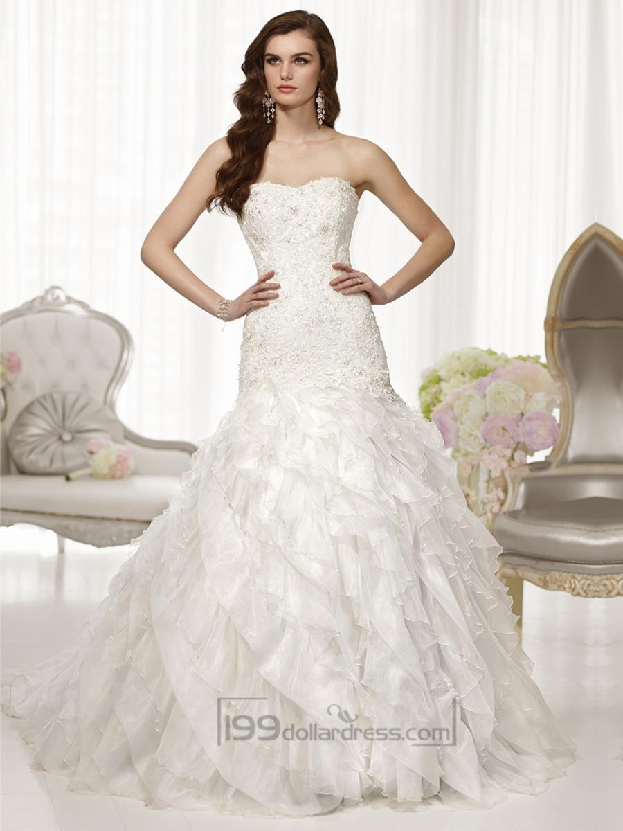 Fit And Flare Semi Sweetheart Neckline Wedding Dresses