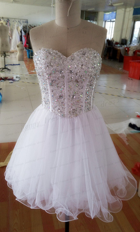 Wedding - Fashionable small pleated skirt Beautiful bridesmaid dress Short white dress Ball gown The bridesmaid dress
