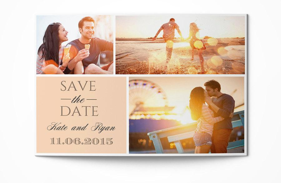 Photoshop save the date overlays wedding photo cards psd templates.