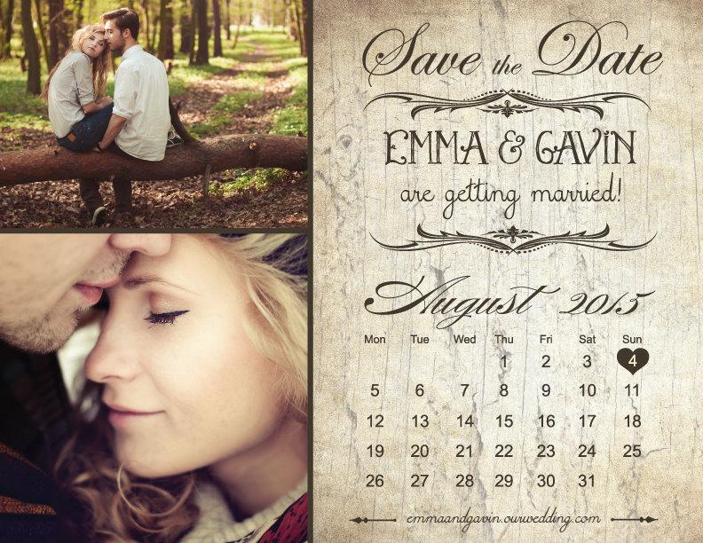 Vintage Save The Dates Magnets Arts Arts - Save the date magnet templates