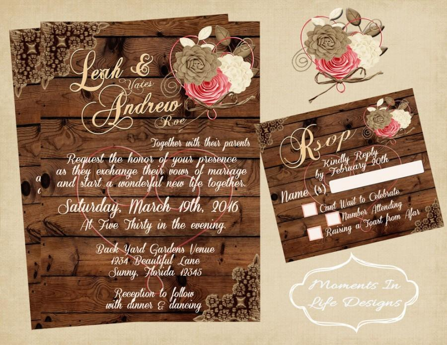 Rustic Vintage Wedding Invitation/Wedding/ Rustic Wedding Set ...