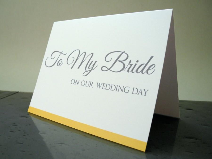 To My Bride On Our Wedding Day Card Gift From The Groom 2460617