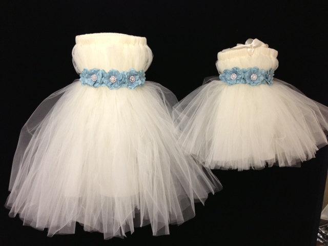Wedding - Flower Sash  Girl Dress