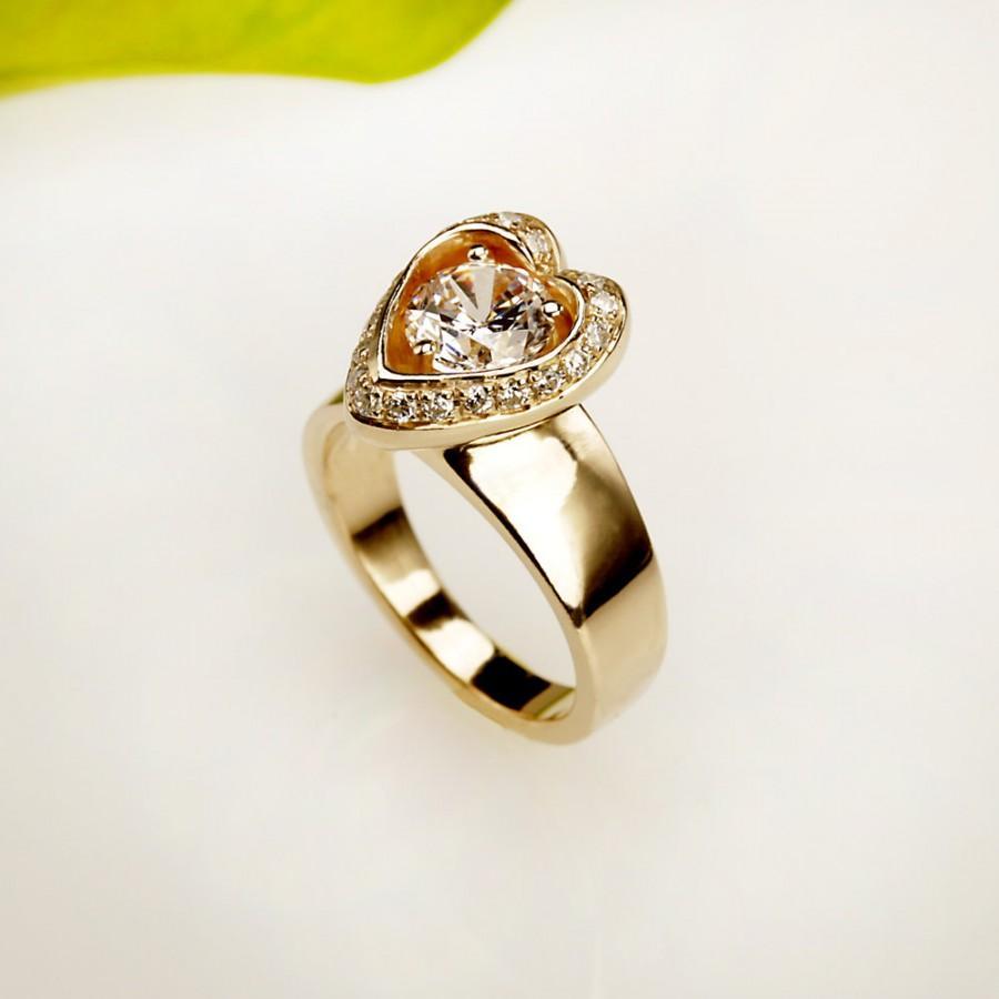 Mariage - Wedding Ring. engagement ring  14kt  Gold Diamond ,  RG-1088