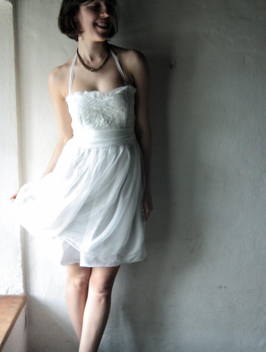 Short Wedding Dress Fairy Alternative Reception Hippie Simple Bohemian
