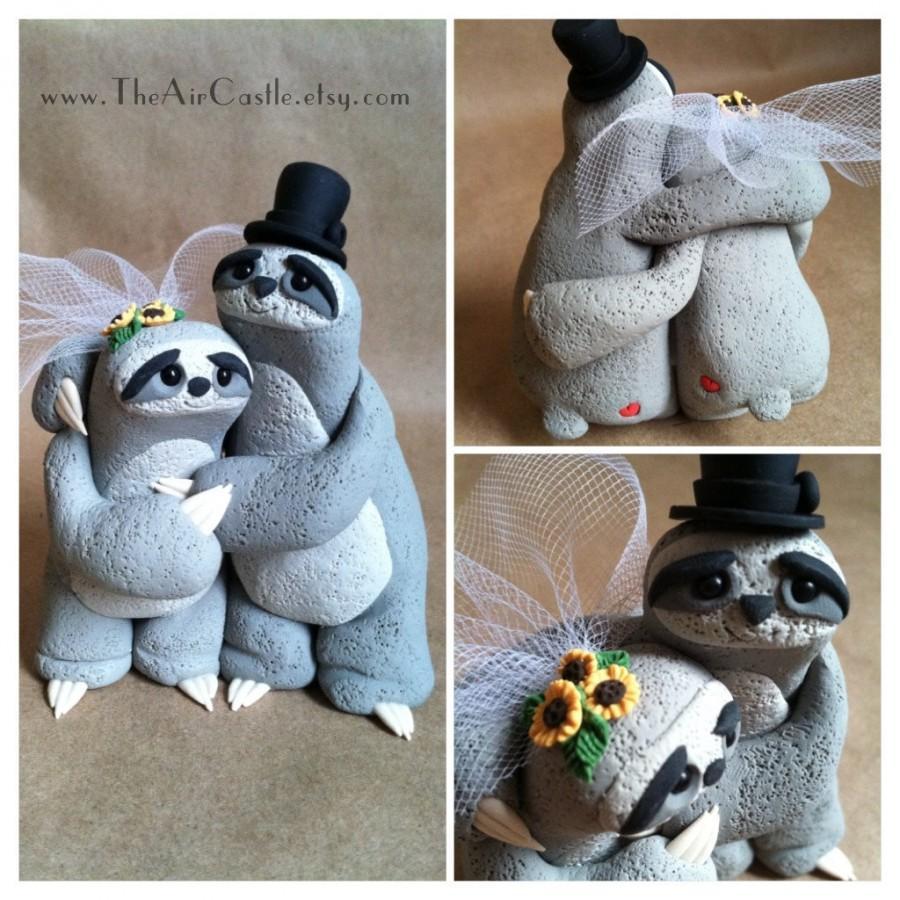 Mariage - Sloth Love wedding cake topper