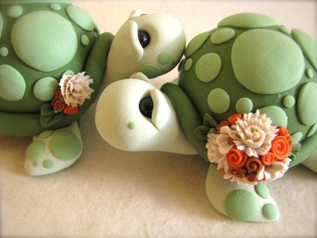 Love Turtles Wedding Cake Topper Handmade #2460720 - Weddbook