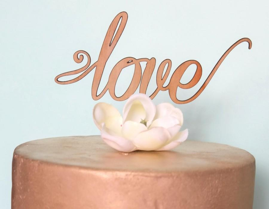 Wedding - Rustic Cake topper - love - Wedding Cake Topper - Raw Wood