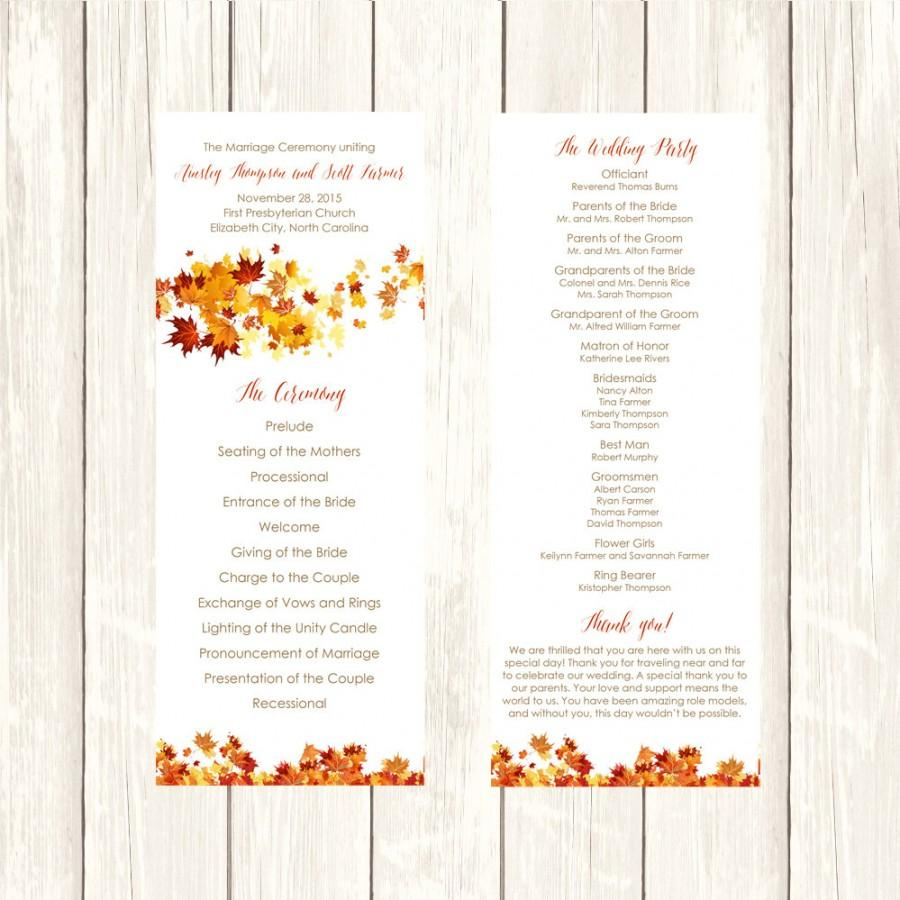Wedding Template – Printable Sample, Example Format Download