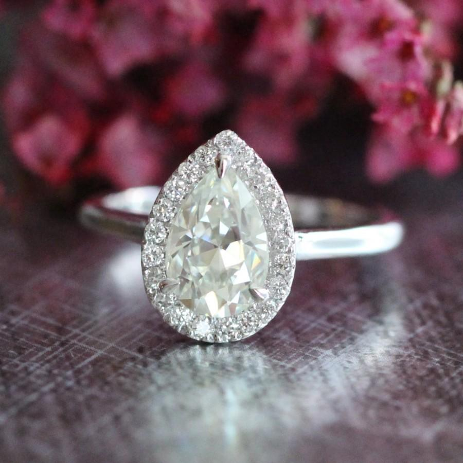 Engagement & Wedding Humor 3ct Round Cut Lotus Flower White Diamond Wedding Bridal Ring In 14k White Gold