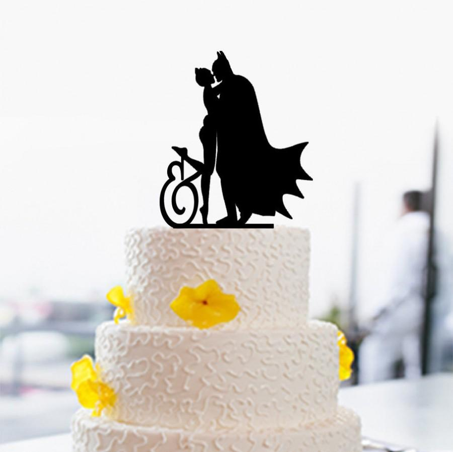 Batman And Catwoman Cake Topper-Custom Cake Topper-Wedding Cake ...