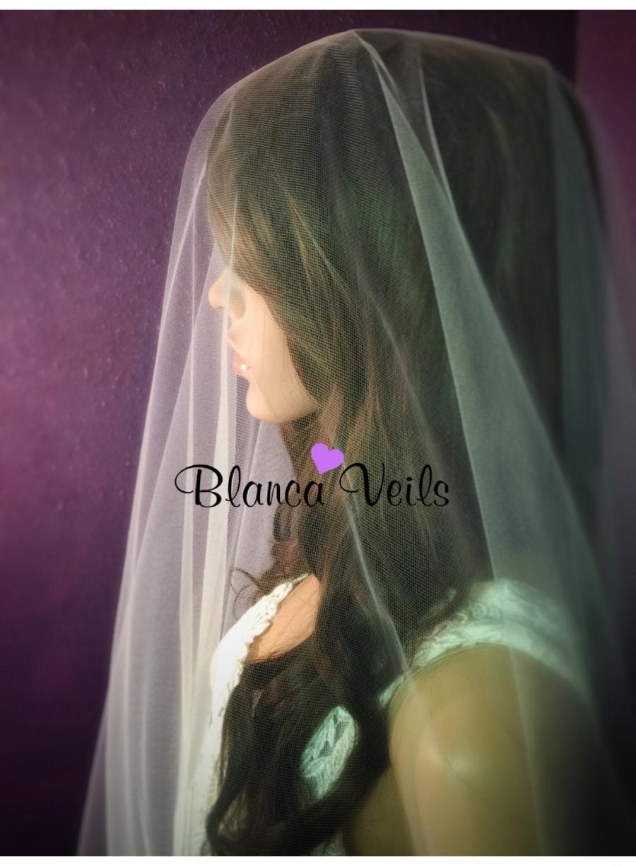 Hochzeit - Soft Drop Wedding Veil
