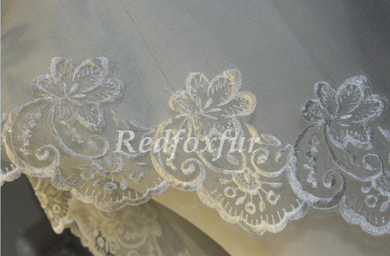Hochzeit - Single Bridal Veil - 1.5cm lace veil - Alencon lace veil - bridal wedding accessories - white ivory