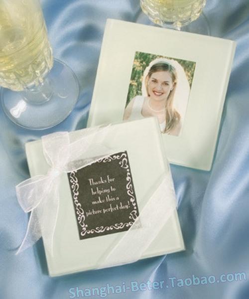 Wedding - 倍乐婚礼小物 永恒的记忆插卡杯垫BD001喜庆创意回礼隔热垫 相册