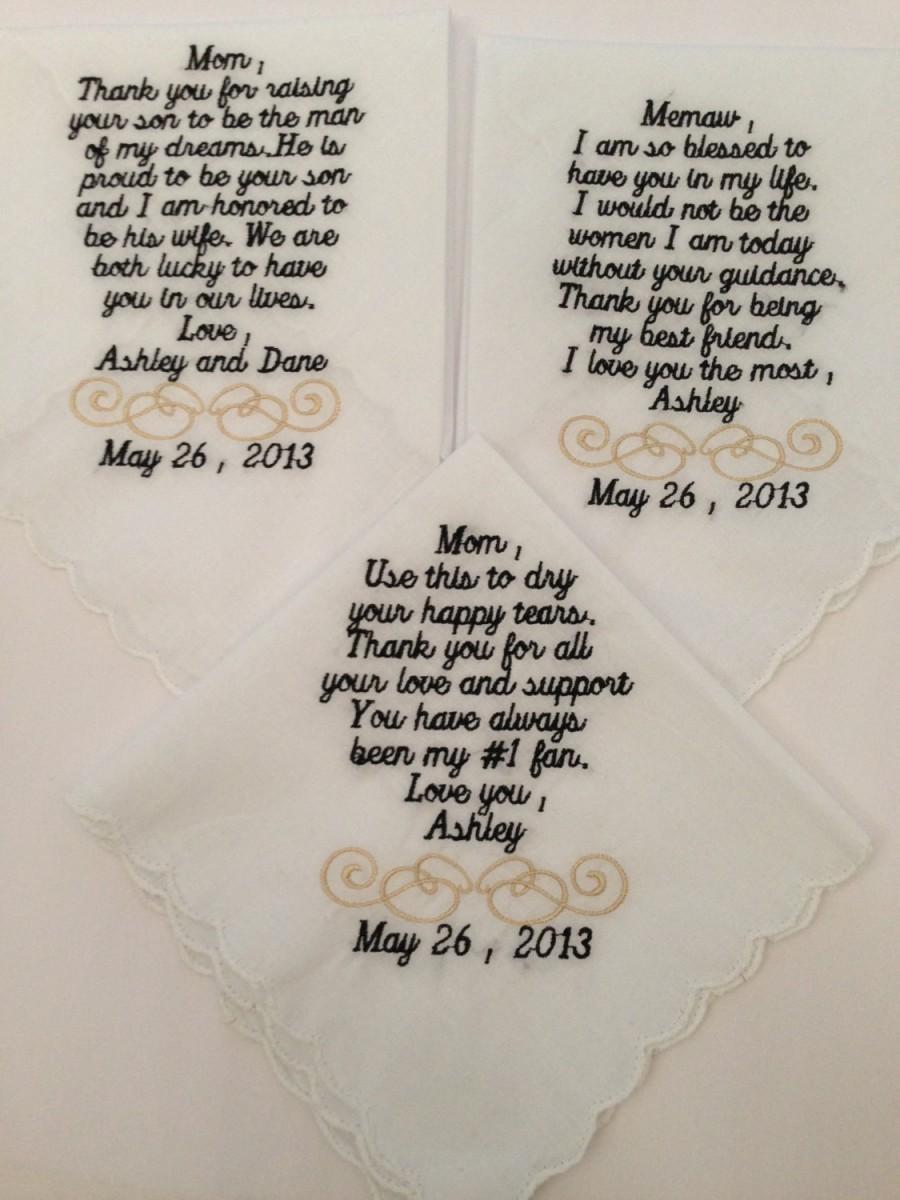Свадьба - Personalized hankerchiefs set of 3