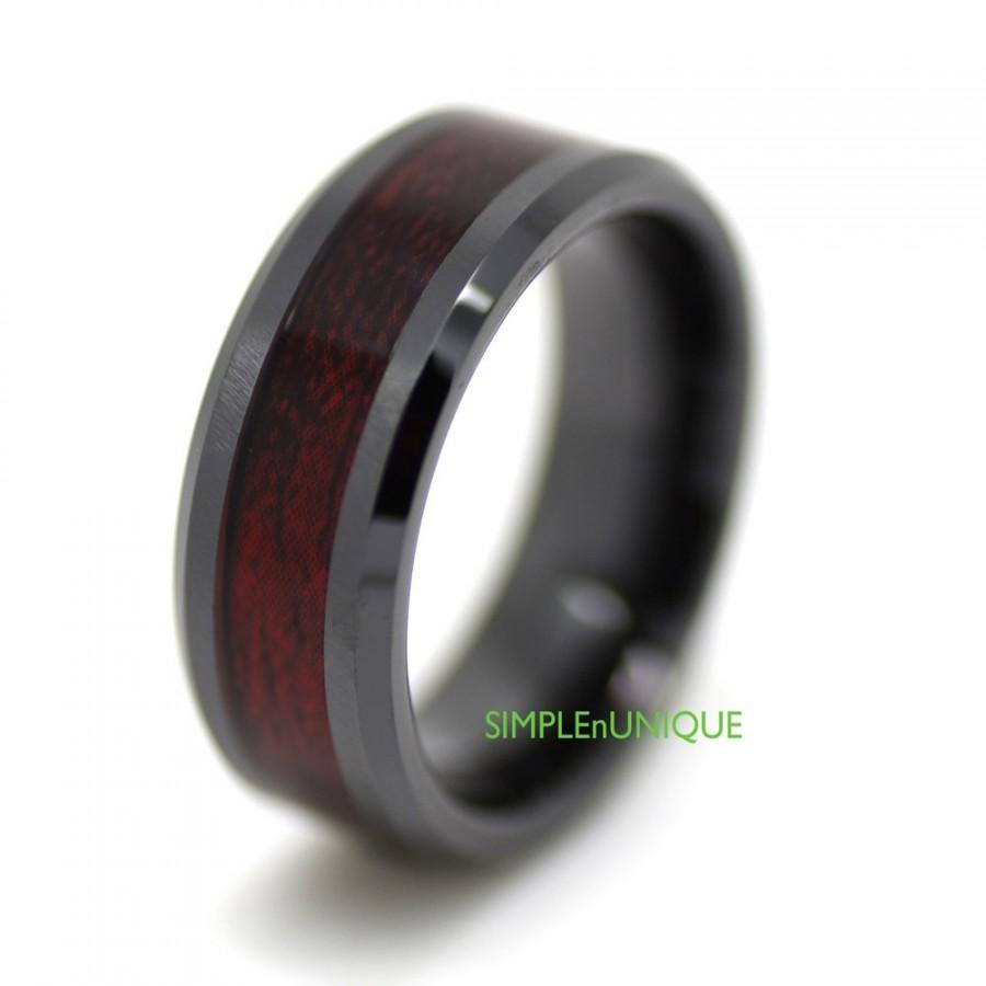 ceramic band promise wood wedding rings inlay black ring media for men mens