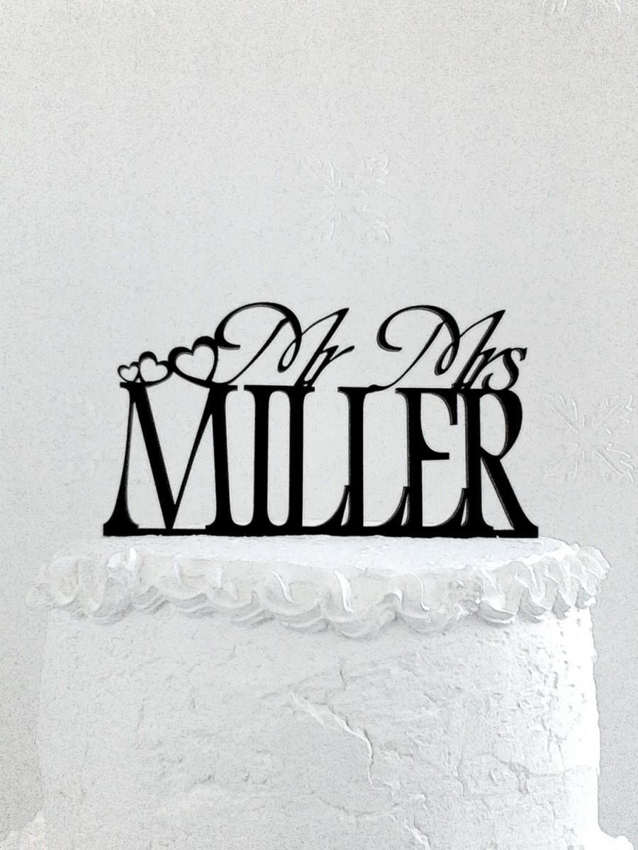 زفاف - Mr and Mrs  Miller Wedding Cake Topper