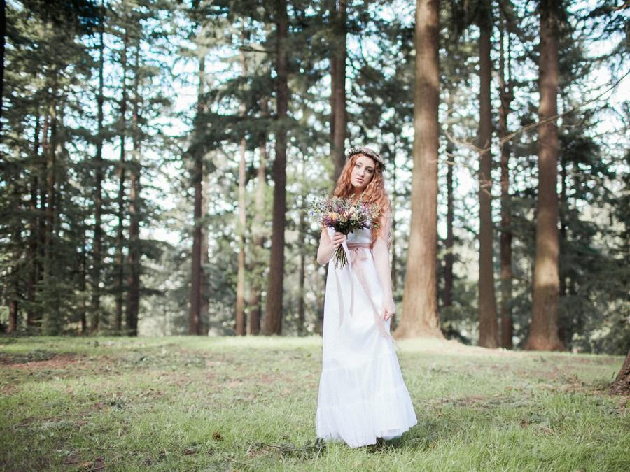 Wedding - Bohemian Tulle Wedding Gown. Floor Length Wedding Gown with Gathered Tulle Layers. Custom Made to Order. Wild Hearts Wedding Gown. SS14303