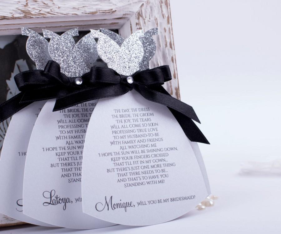 زفاف - Bridal Party Invitations Card Will you be My Bridesmaid Card, Bridesmaids Cards