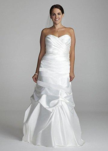 Wedding - Plus Size Sweetheart Charmeuse Wedding Dress with Pick-Up Skirt