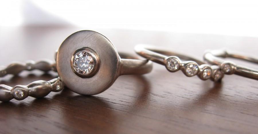 Mariage - Helios Ring 950 Palladium and Diamond engagement ring