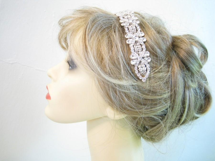 زفاف - Crystal Bridal Headband, Rhinestone Bridal Headband, Crystal Wedding Head Piece, Rhinestone Headband, Ready to Ship