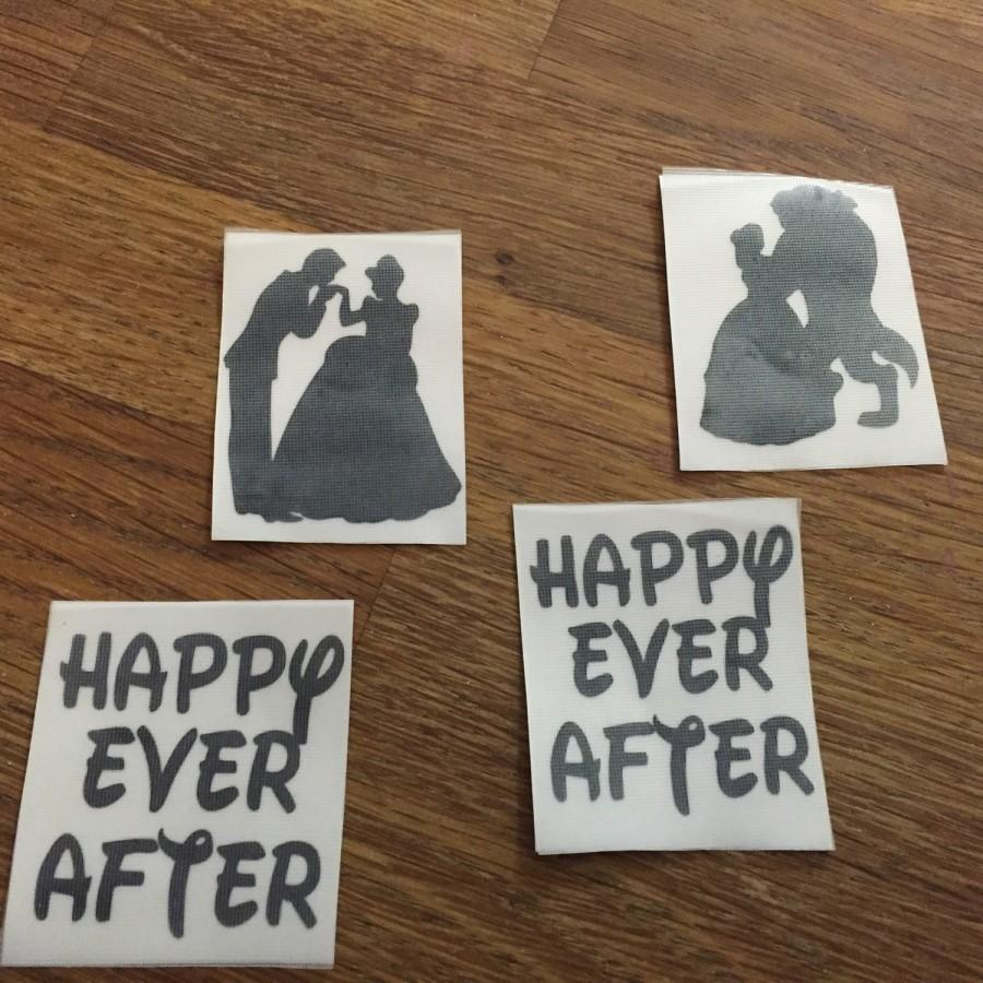 Свадьба - Happy every after DISNEY SHOES wedding shoes. Wedding shoes decals transfers