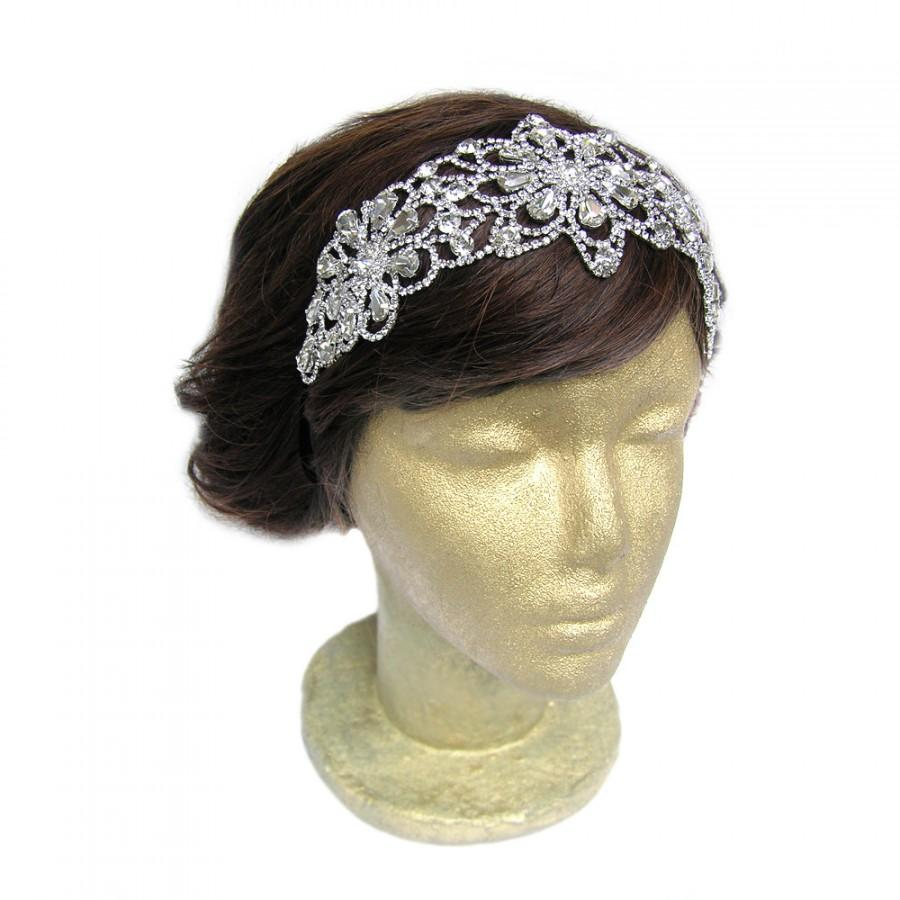 Свадьба - Great Gatsby Headband, Lady Mary, 1920 Headband, Vintage Wedding Hair Accessories, Prom Hair Accessories, Old Hollywood Glamour, Costume